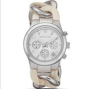 Michael Kors Runway Watch - Silver and Horn